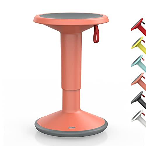 Interstuhl UPis1 – ergonomischer Sitzhocker mit Schwingeffekt – für einen geraden Rücken Made in Germany – inkl. 10 Jahren Garantie (Lachsorange, Standard Edition)