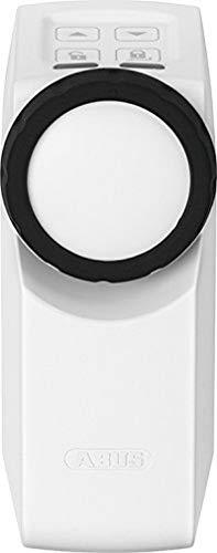 ABUS HomeTec Pro Funk-Türschlossantrieb CFA3000 - Elektronisches Türschloss zum schlüssellosen Öffnen auf Knopfdruck oder per Codeeingabe - für bestehende Zylinder - Weiß - 10123