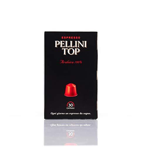 Espresso Pellini Top Arabica 100%, kompatibel mit Nespresso,100% kompostierbar,30 Kapseln