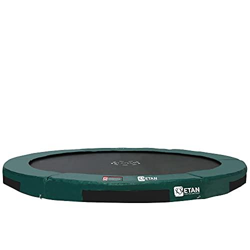 Etan Hi-Flyer Outdoor Boden Trampolin - Inground Gartentrampolin mit UV-beständiges Randabdeckung mit starkem PVC - eingegraben Trampolin Kinder - Rund - Grün - 427 cm