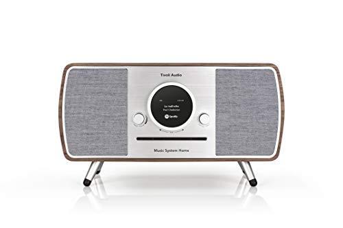 Tivoli Audio (Art Kollektion) Music System Home - All-in-one DAB+ / UKW Kompaktanlage mit Drahtlose WLAN- und Bluetooth-Technologie - Walnut / Grey