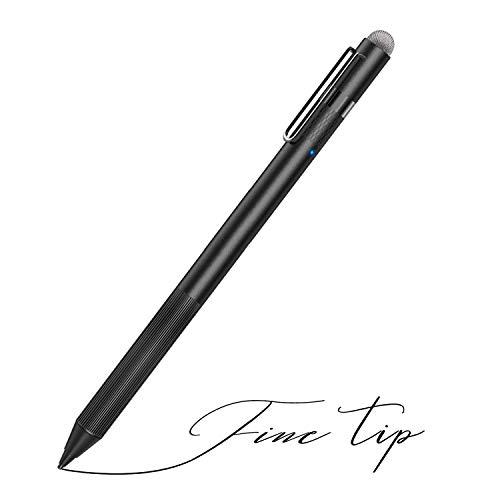 MEKO Stylus Pen für Apple iPad mit feiner Stiftspitze zum Zeichnen und für Handschrift kompatibel mit W/iOS und Android Touchscreen Mobiltelefonen und Tablets (Schwarz)