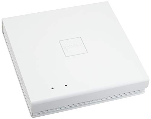 LANCOM LX-6400 (EU) WiFi-6 Access Point mit bis zu 2400 MBit/s, 8 integrierte 180° Antennen, PoE (IEEE 802.3at), Dual Concurrent WLAN (2,4 & 5 GHz) 4x4 MU-MIMO, 2,5 Gigabit Ethernet-PoE-Port, Weiß