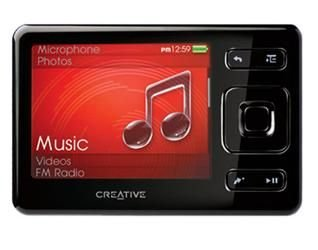Creative Zen MP3-Player 4 GB schwarz