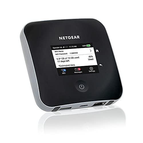 NETGEAR Nighthawk M2 Mobiler WLAN Router / 4G LTE Router MR2100 (bis zu 2 GBit/s Download-Geschwindigkeit, LTE Cat20 Hotspot für 20 Geräte, WiFi überall einrichten, für jede SIM-Karte freigeschaltet)