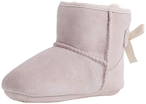 UGG Baby's Female Jesse Bow II and Beanie Boot, Baby Pink, 2 (UK)