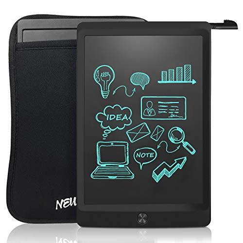 NEWYES LCD Schreibtafel 10 Zoll Maltafel, Malen für Kinder, Kinderspielzeug ab 1 Jahr, mit Schwarze Hülle, Stift, Schwarz