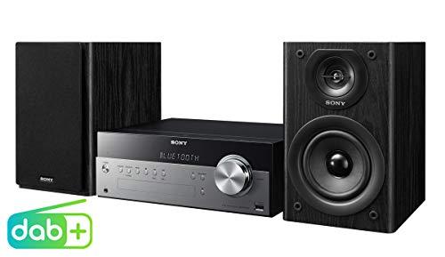 Sony CMT-SBT100B Micro-HiFi-Anlage (CD, DAB+ Digitalradio, FM/AM, USB, Bluetooth) silber