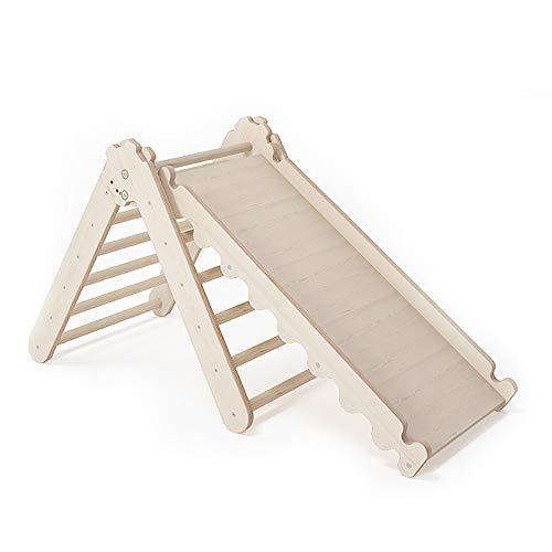 MAMOI Triangle Gym Dreieck v.2 für Kinder Modernes | Klettergerüst Indoor Kinder minimalistisches Design | Nachhaltig Kletterdreieck für Kleinkinder aus Holz | 100% ECO | Made in EU