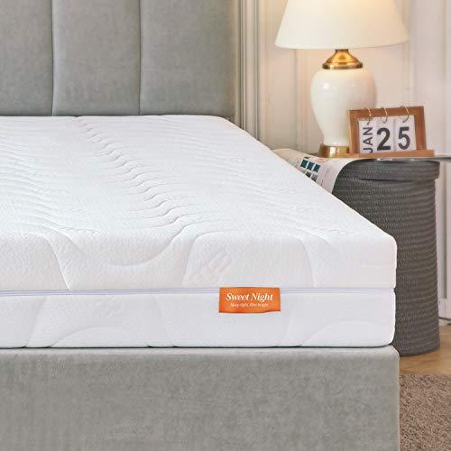 Sweetnight Matratze 90x200 Matratze H4 & H3 Orthopädische punktelastisch Kaltschaummatratze 2 in 1 Liegehärten 4 Seite Reißverschluss Höhe 18cm mit waschbar Microfaserbezug geeignet