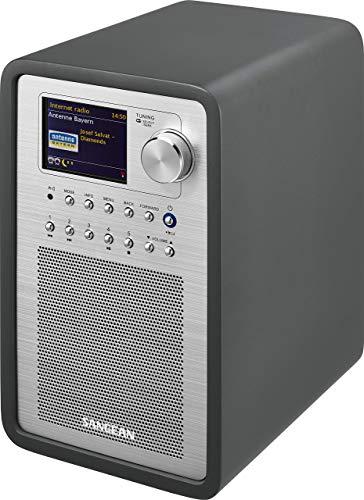 Sangean WFR-70C Internet Radio (Netzwerk Music-Player, WiFi, DAB+, Spotify-Player, UKW-RDS, AUX-In, Lautsprecheranschluss) grau