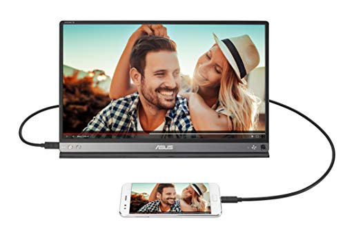 Asus Zenscreen Go MB16AP 39,6 cm (15,6 Zoll) tragbarer USB Monitor (USB Type C, Full HD, integrierter Akku) schwarz