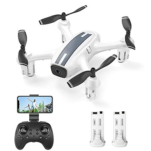 SP360 Drohne mit HD 720P WiFi FPV Kamera, Sprach- und Gestensteuerung, G-Sensor, Flugbahn, Headless-Modus, 3D Flips, Höhehalten, für Anfänger und Kinder