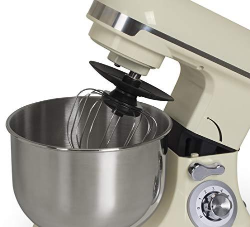 bkitchen Mix 600 Küchenmaschine 600W Weiß mit 6 Leistungsstufen und umfangreichem Zubehör