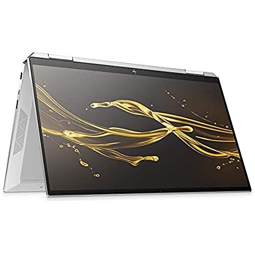 HP Spectre x360 13-aw0015ng (13,3 Zoll / FHD Touch) Convertible (Intel Core i5-1035G4, 8GB DDR4 RAM, 512GB SSD, 32GB Intel Optane, Intel Iris Plus Grafik, Win10) silber inkl. USB-C Hub