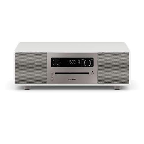 sonoro Lounge Musikanlage mit Radio, CD-Player und Bluetooth (UKW/FM, DAB Plus, AUX, USB, MP3, Naturklänge, Meditationsinhalte) Weiß