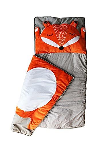 Kinderschlafsack Fuchs   Schlafsack für Kinder   Mumienschlafsack Leicht & Kompakt   165x75cm