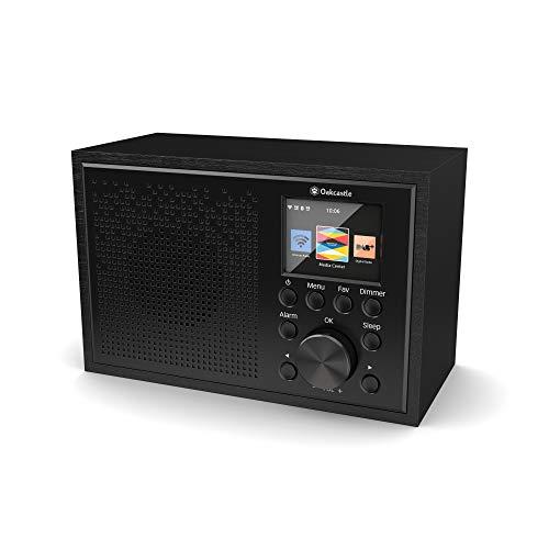 Oakcastle IR100 Internetradio | WLAN Radio mit Bluetooth, Spotify Connect, Doppelwecker, Line-In, App-Steuerung und Farbbildschirm