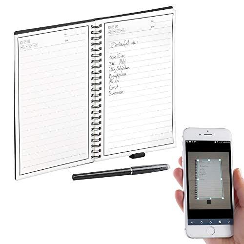 General Office Elektronisches Notizbuch: Wiederverwendbares Notizbuch mit schwarzem Stift und App, DIN A5 (Notizbuch wiederbeschreibbar)