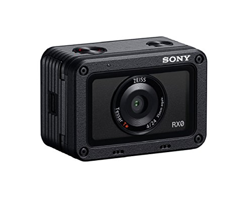 Sony RX0 Premium Ultrakompakt Digitalkamera (15,3 MP, 24mm F4 Zeiss Objektiv, 1 Zoll Sensor, wasserdicht) (DSC-RX0) schwarz
