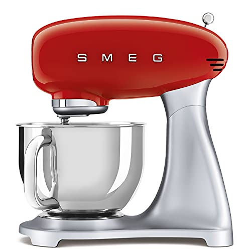 Smeg SMF02RDEU Küchenmaschine, 18/8 Stainless Steel
