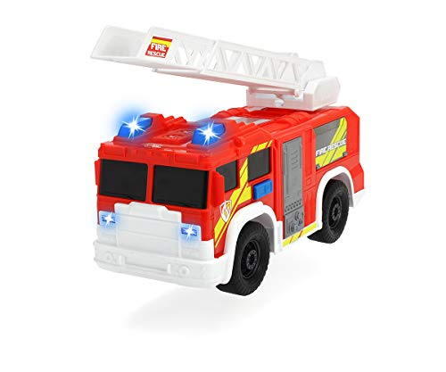Dickie Toys 203306000 Fire Rescue Unit, Feuerwehrauto, Spielzeugauto, Feuerwehr, bewegliche und ausfahrbare Leiter, Licht & Sound, inkl. Batterien, 30 cm groß, ab 3 Jahren