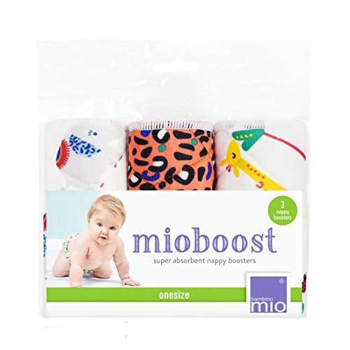 Bambino Mio, mioboost (windeleinlage), 3er packung, safari tupfen