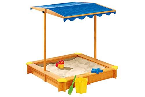 Playtive Junior Sandkasten mit Dach Sandkiste Buddelkiste