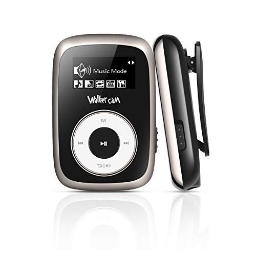 Walkercam M2 Clip MP3 Player mit FM Radio, 8 GB Music Player zum Laufen, Schwarz