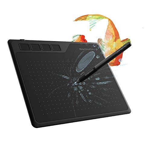 GAOMON S620 6,5 x 4 Zoll (Diagonale: 7,6 Zoll) Grafiktablett (mit 4 Express Tasten) mit batterielosem Stift