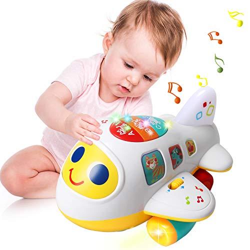 ACTRINIC Baby Spielzeug 12-18 Monate elektronisches Flugzeug Spielzeug mit Licht und Musik Best pädagogisches Spielzeug für Kinder für Kleinkinder Jungen und Mädchen 1 2 3 4 Jahre alt