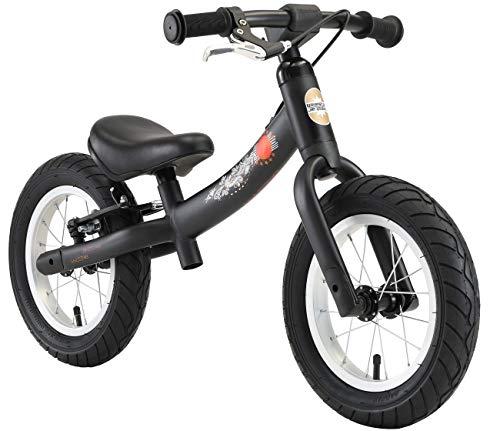BIKESTAR Kinder Laufrad Lauflernrad Kinderrad für Jungen und Mädchen ab 3 - 4 Jahre | 12 Zoll Sport Kinderlaufrad | Schwarz (matt) | Risikofrei Testen