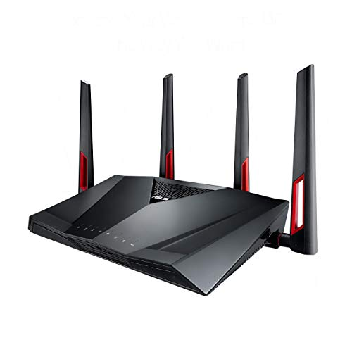 Asus RT-AC88U Gaming Router (Ai Mesh WLAN System, WiFi 5 AC3100, Gaming Engine, 1.4 GHz DC CPU, Alexa & IFTTT & App Steuerung, AiProtection, USB 3.0, Router bis zu 200 m²)