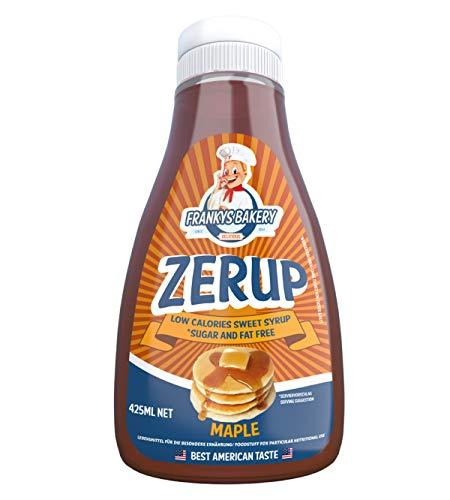 Frankys Bakery ZerUP -Amerikanischer Sirup Dessersauce Diät Ernährung Kalorienarm(Ahorn -Maple) 425ml