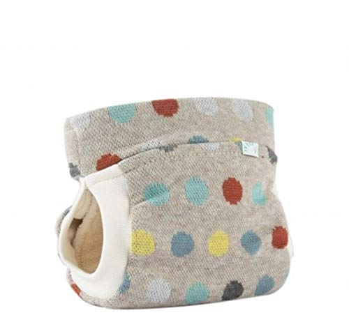 Popolini EasyFree Interlock Organic Cosy Dots All-in-3+ System (3 Teile + Abhaltefunktion) (S (~2,5-5 kg))