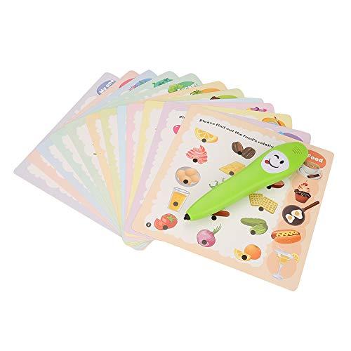 Elektrisch Vorlesestift mit 12pcs Kognition Karten Baby Lernspielzeug Lernspielzeug Geschenke für Kleinkinder Kinder