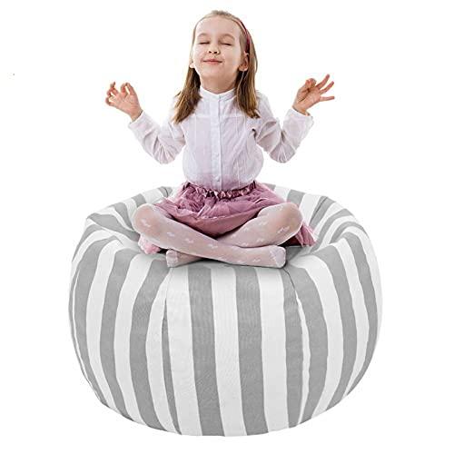UMYMAYDO1 38' Stofftier Kuscheltiere Aufbewahrung Aufbewahrungstasche Sitzsack Kinder Soft Pouch Stoff Stuhl (Gray)