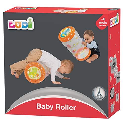 Ludi Baby-Rolle, 40 x 25 x 20cm, ab 6Monaten Die aufblasbare Rolle fördert die Motorik von Kindern.