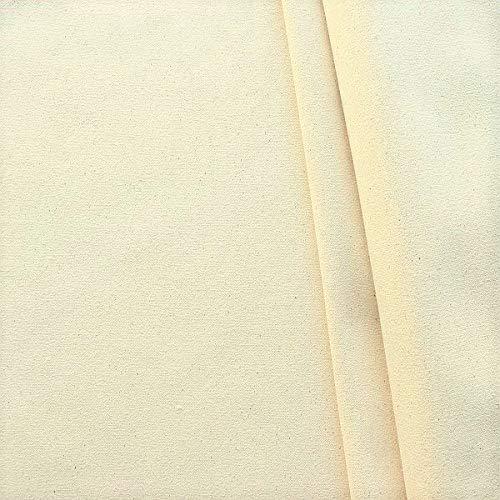 STOFFKONTOR Baumwolle Segeltuch Stoff Tipi Zeltstoff - Meterware, naturfarben - zum Nähen von Tipis, Zelten, Mittelalter, Sichtschutz, Sonnenschutz, Hussen, Dekorationen