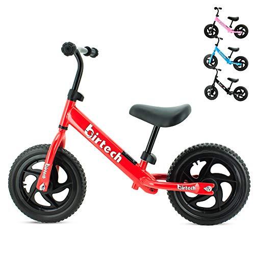 Laufrad Kinder ab 2 3 4 Jahre, Kinderrad mit 12 Zoll Pannensicher Eva-Schaumreifen Verstellbar Lenker & Sattel, Ultraleicht Kinderlaufrad Balance Fahrrad für Jungen Mädchen