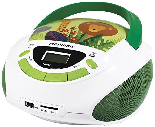 Metronic Radio/CD-Player für Kinder, Ozean, mit USB-/SD-/AUX-IN-Port Grün / Weiß