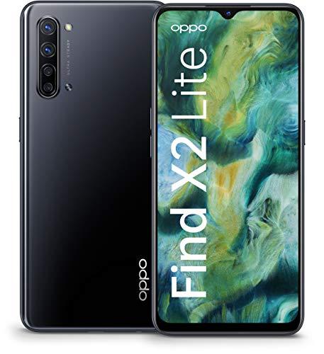 OPPO Find X2 Lite Smartphone (16,3 cm (6,4 Zoll)) 128 GB interner Speicher, 8 GB RAM, 4260mAh mit 30W Blitzladen, 48MP Zoom Ultra-Steady-Quad-Kamera, inkl. Schutzcover - Moonlight Black