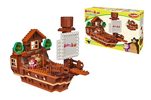 BIG Spielwarenfabrik 800057107 - PlayBIG Bloxx Masha and the Bear Ship