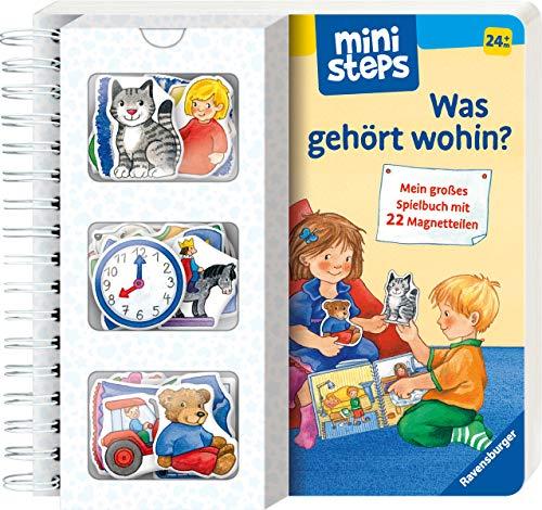 Was gehört wohin?: Mein großes Spielbuch mit 22 Magnetteilen. Ab 24 Monaten (ministeps Bücher)