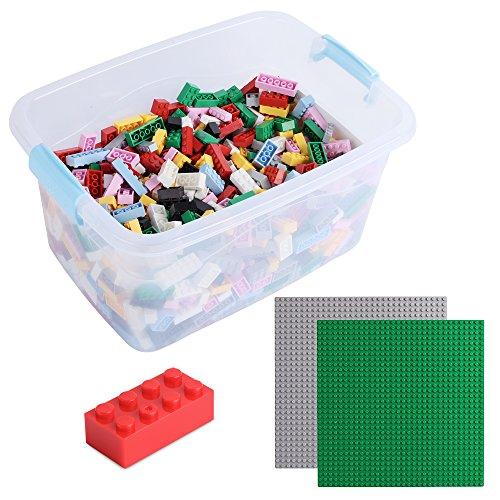 Bausteine - 1264 Stück, Kompatibel zu Allen Anderen Herstellern - Inklusive Box und Grundplatte, Bunt XL
