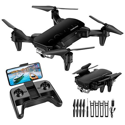 welltop Mini Drohne für Kinder mit Kamera HD 4K, Faltbar RC Quadcopter mit FPV WLAN Live Übertragung,2 Akku Lange Flugzeit,Flugbahnflug,Höhenhaltung,One Key Start/Landen,Headless Modus für Anfänger