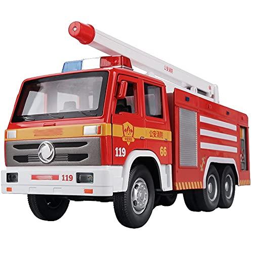 Xolye Push Water Spray Legierung Feuerwehrauto Spielzeug Modell Retractable und Faltbare Öffentliche Sicherheit Feuerwehrauto Jungen Spielzeug Sound und Licht Ziehen Zurück Kinderspielzeugauto