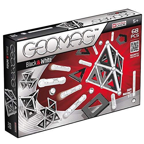 Geomag, Classic Black and White 012, Magnetkonstruktionen und Lernspiele, 68-teilig
