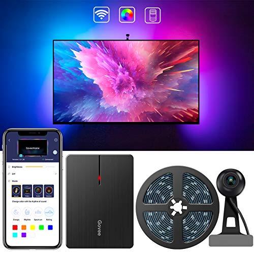 Govee LED TV Hintergrundbeleuchtung, WiFi TV Beleuchtung Kit mit Kamera, für 55-65 Zoll TV, App-Steuerung, Musik Sync, arbeitet mit Alexa