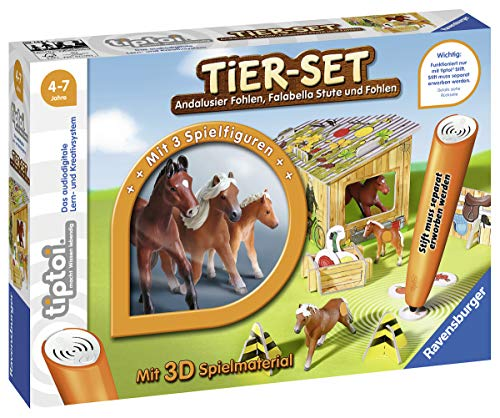 Ravensburger tiptoi Tier-Set Falabella Spiel, ab 4 Jahren, Interaktives Tier-Set Falabella mit drei Ravensburger tiptoi Tieren